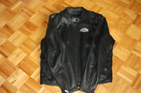 Woman's Harley Davidson - HD - Black Leather Motorcycle Jacket.
