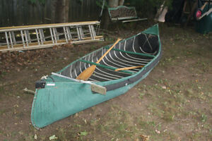 14FT SPORTS PAL CANOE AND 2HP HONDA OUTBOARD