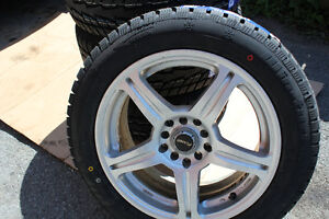 FAST ALLOY RIMS with BRAND NEW set WINTER TIRES