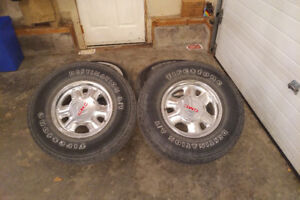 "SET OF FOUR 16"" TRUCK RIMS WITH LT265/75R16 TIRES"