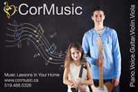 Music Lessons In Your Home from a Qualified Professional Teacher
