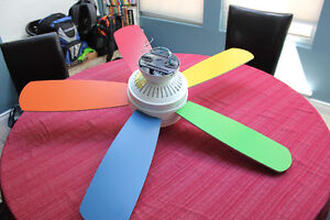 Ceiling fan light - Multicolor for childrens rooms