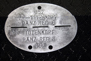 German ww2 black elite  dog tag