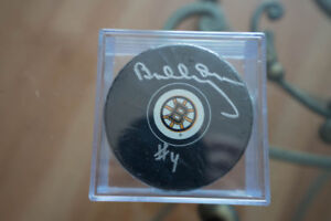 Bobby Orr signed puck Boston Bruins Great N.R. Authenticity COA