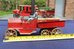 EARLY 1900'S SCHIEBLE DAYTON HILLCLIMBER DUMP TRUCK TOY
