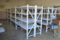 SHELVING FOR WAREHOUSE, GARAGE , Steel Shelves (Free Delivery!)