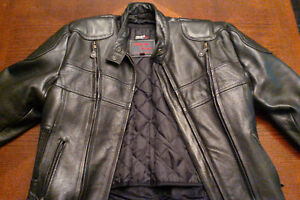 Manteau de cuir moto, motorcycle leather jacket