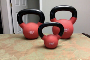 Set of 3 Kettlebells