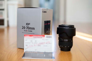 Canon 24-70mm f/2.8L II USM - MINT condition