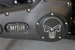 "HD Custom Derby Covers- Skull Contrast ""Free Shipping"""