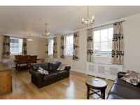 Spacious, light, 3 bed flat over 2 floors excellent security central location + car parking space