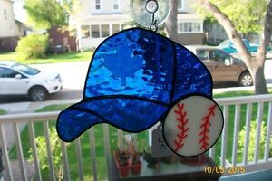 Ball Cap and Ball Stained Glass Suncatcher