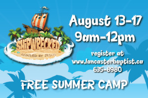 'SHIPWRECKED'  SUMMER CAMP