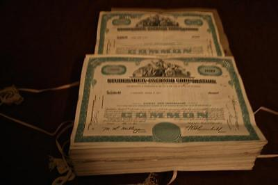 -1- STUDEBAKER-PACKARD CORP STOCK CERTIFICATE 100 SHARES jan 3 1961