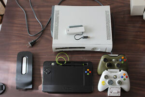 xbox 360, 39 games, and accessories