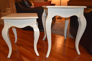 3 side tables- French Provincial style