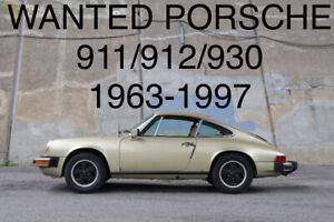 Old Porsche 911-912-930 1963-1997 WANTED