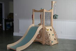 Unique Indoor playset and slide. Great for cold and wet days.