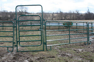 round pens, hay feeders, gates