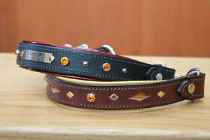 HANDMADE CUSTOM LEATHER DOG COLLARS,LEASHES, BELTS & HARNESS Peterborough Peterborough Area image 7