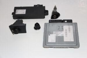 BMW OEM 2007 323i E90 ECU CAS Ignition Lock Key Set