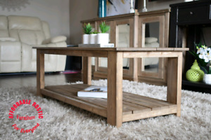 Rustic coffee table (new)(light brown)