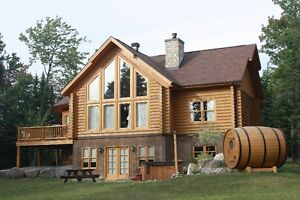 Log house for rent chalet a  louer Laurentian valley