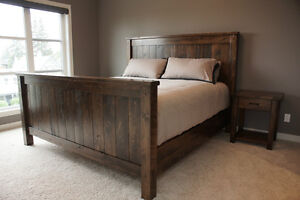 Reclaimed Wood Bed Frame, Choice of Colours and More! By LIKEN Woodworks