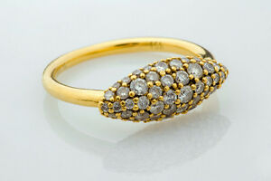 Alexis Bittar Marquis 18K Yellow Gold Diamond Pave Ring FX41R009