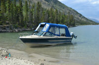 17 Foot 3 Season Yukon Boat/175 HP/ Full Canvas