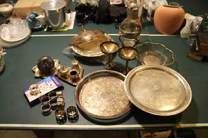 Brass, silver plated collection sold as a lot for $85 Hamilton Ontario image 1