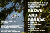BOARDS AND BREWS STAND UP PADDLEBOARD EVENT