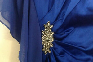 BRAND NEW Sapphire Blue Ruched Rhiestone Formal Dress Kitchener / Waterloo Kitchener Area image 2