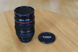 CANON EF 24-70MM F2.8L USM LENS LIKE NEW (POLARIZER INCLUDED)