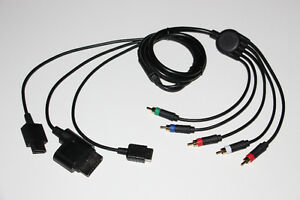 PS1+PS2+PS3+XBOX 360+WII+WII U-COMPONENT HD 1080i-CABLE (NEUF/NEW) [VOIR/SEE DESCRIPTION]