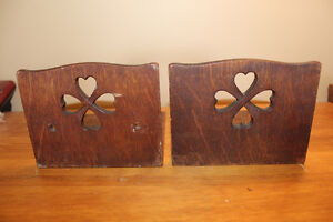 Vintage Wooden Bookends with Heart Cut Outs London Ontario image 2