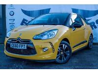2010 CITROEN DS3 1.6 DSTYLE STUNNING YELLOW AND BLACK WITH DAYTIME RUNNING LIGHT