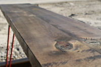 The Hairpin Bench - Walnut & Red