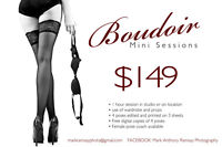 Boudoir mini sessions by Mark Anthony Ramsay