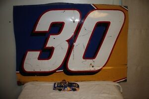 AUTOGRAPHED JEFF GREEN NASCAR DIECAST AND SHEET METAL DOOR