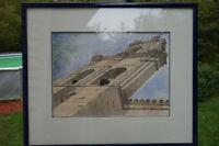 Aclaimed NL Artist Christopher Peet Original 1983 Watercolour