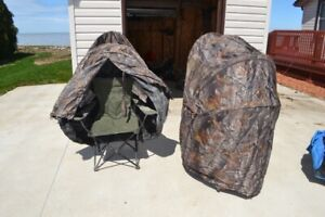 Turkey hunting chair blinds
