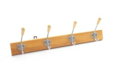 Old 4er Hook Rail Wood Cult Retro Wardrobe Wooden Trim With Hook Hooks