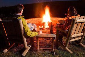 Bûches pour feux de camp (camping)