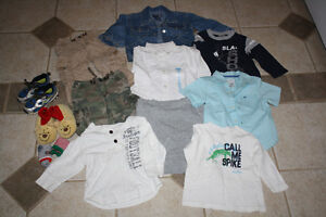 box of boys 18-24 month clothing