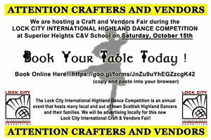 **Crafters & Vendors Fair** Call for Vendors & Crafters!