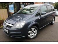 2007 Vauxhall Zafira Energy 1.8i 16v Blue 7 Seats Long MOT Finance Available