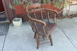 Antique Swivel Captain's Chair London Ontario image 2
