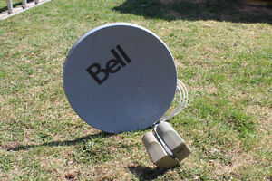 Duel Satellite Dish with Receivers