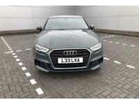 2017 Audi A3 Saloon S line 2.0 TDI 150 PS S tronic Diesel grey Automatic for sale  Tamworth, Staffordshire